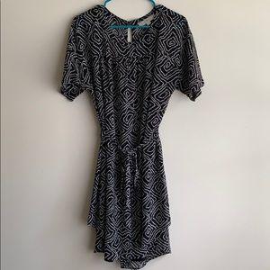 Ann Taylor Loft Petite Large geometric dress